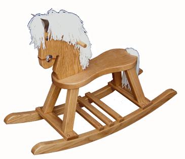 Small Oak Regular Rocking Horse with Straight Legs