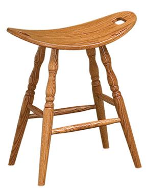 Saddle Bar Stool Amish Furniture Factory Amish