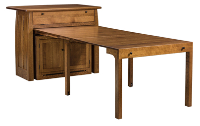 Boulder Creek Frontier Island Buffet With Pull Out Table