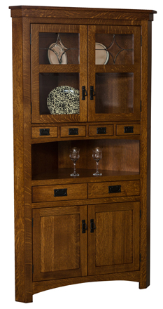 Amish Cape Cod Corner Curio Cabinet