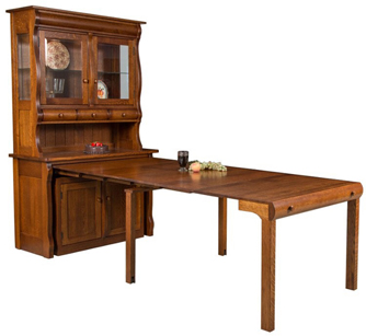 Hampton Frontier Hutch with Pull out Table