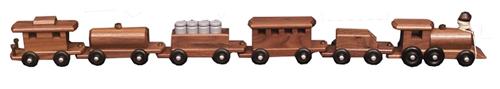 Medium Walnut Train with 6 Cars