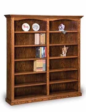 Amish Hoosier Heritage 10 Shelf 6 Double Bookcase