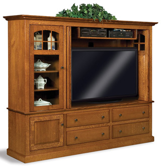 Forks Contemp Mission 2 Pc TV Cabinet| Amish Furniture Factory ...