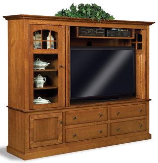 Burnell Espresso TV Media Stand | Overstock.com