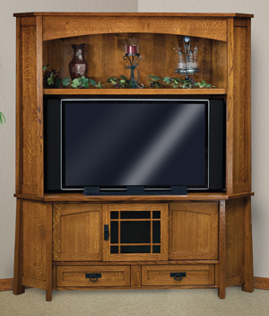 Modesto 69 Quot 3 Door 2 Drawer Crnr Tv Center Hutch Amish