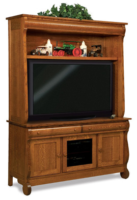 Old Classic Sleigh 3 Door 2 Drawer 2 Piece LCD TV Cabinet