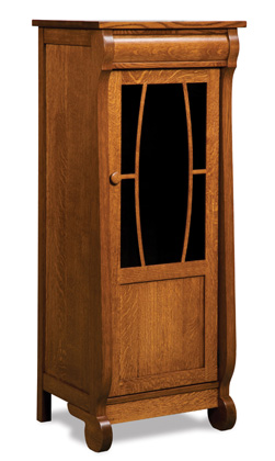 Old Classic Sleigh Stereo Cabinet 5 Shelves Amish
