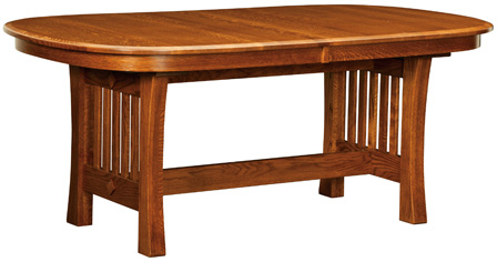 Arts & Crafts Trestle Dining Table