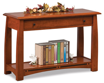 Boulder creek 42 sofa table amish furniture factory for 42 sofa table