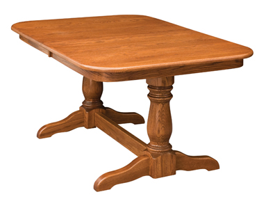 Dining Table Double Pedestal Solid Hardwood Dining Table