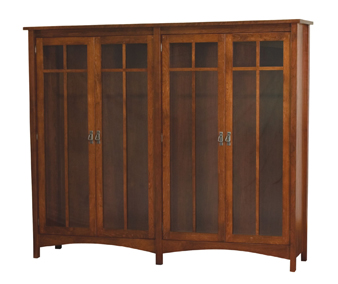 Arts & Crafts Mission 4 Door Bookcase