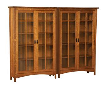 Arts & Crafts Mission Split Double Bookcase