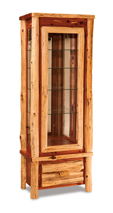 Fireside Rustic Curio Cabinet