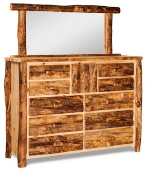 Fireside Rustic 10 Drawer 1 Door Dresser