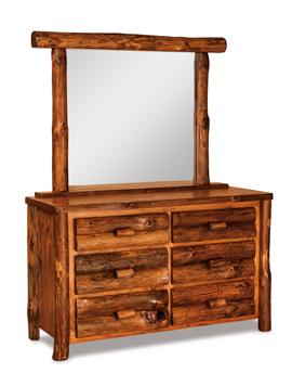 """Fireside Rustic 55"""" 6 Drawer Dresser"""