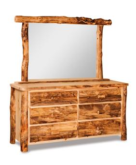"""Fireside Rustic 65"""" 6 Drawer Dresser"""