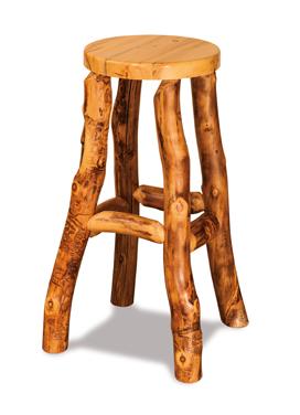 "Fireside Rustic 13"" Round Bar Stool"