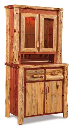 Amish Fireside Rustic Small Kitchen Hutch