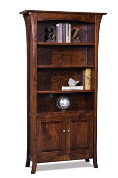 Ensenada 4 Shelf, 2 Door Bookcase