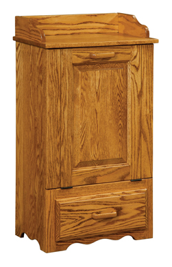 Tilt Out Trash Bin with Bottom Drawer
