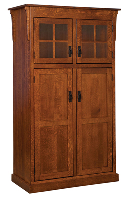 Superieur Amish Heritage Mission 4 Door Pantry Cabinet