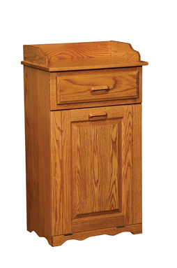 Large tilt out trash bin with top drawer amish furniture factory amish furniture factory - Amish tilt out trash bin ...