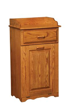 Large Tilt Out Trash Bin With Top Drawer Amish Furniture
