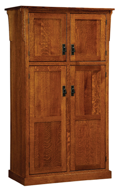 Mission 4 Door Pantry Cabinet Amish Furniture Factory