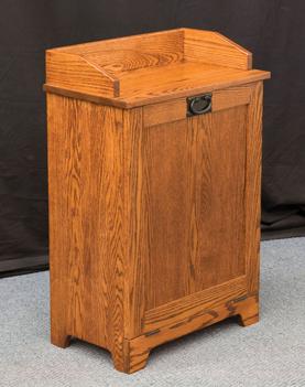Mission Tilt Out Trash Bin Amish Furniture Factory