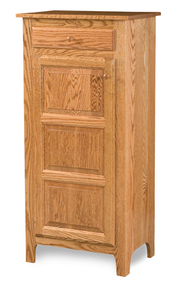 Classic Style 1-Door 3-Raised Panel with Drawer Pie Safe