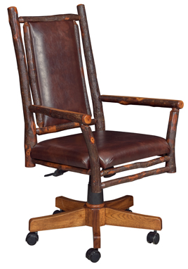 Grandpa Desk Chair with Fabric Seat & Back