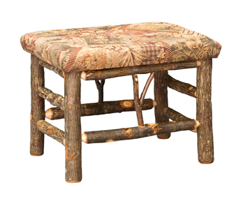"""24"""" Hickory Bench with Fabric Seat"""