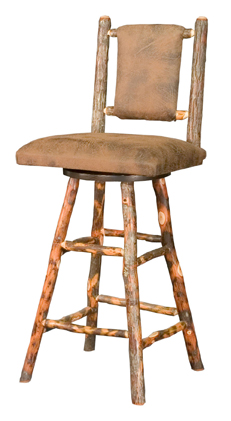 """24"""" Westville Bar Stool with Fabric Seat & Back"""