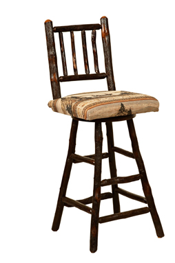 """30"""" Westville Bar Stool with Fabric Seat & Spindle Back"""