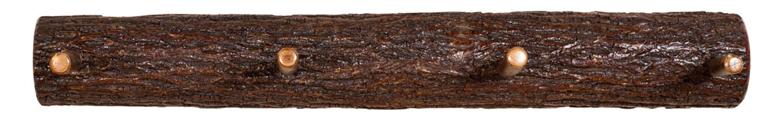 """36"""" Split Log Coat Hanger with 4 Hooks"""