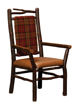 Branch Captain Chair with Spindle Back and Solid Seat