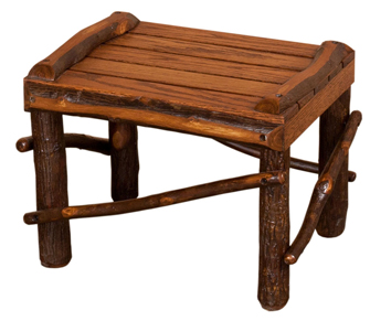 Hickory Footstool - Medium