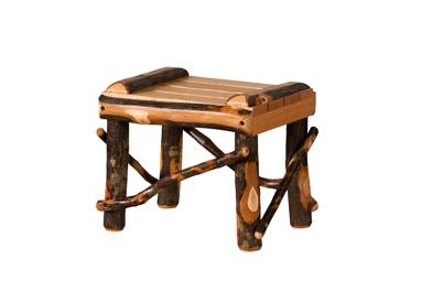 Hickory Footstool - Small