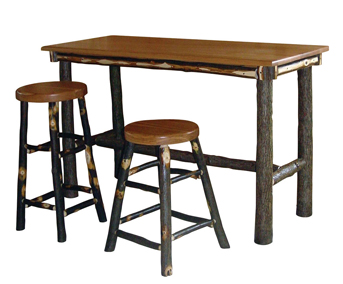 Hickory Rectangle Top Pub Table