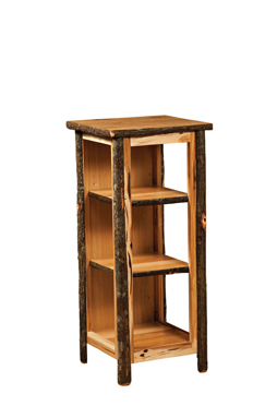 Hickory Utility Stand with Open Sides