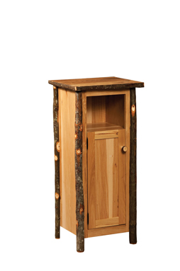Hickory Utility Stand Closed Sides with Door