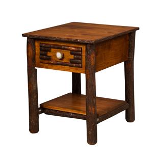 "20½"" Wildwood End Table with Solid Bottom Shelf"
