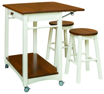 Guest Server with Bar Stools