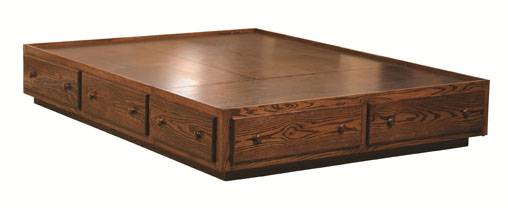 """13¾"""" Platform Bed with Toe Kick, Style 15A"""
