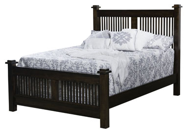 American Mission Slat Bed Amish Furniture Factory