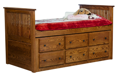 Captain Twin Bed Amish Furniture Factory