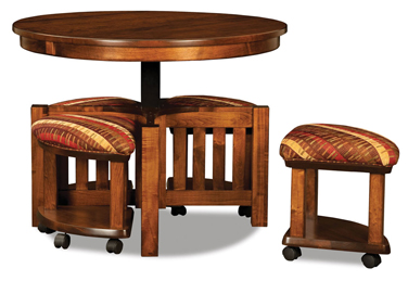 5 pc. Round Table Bench Set
