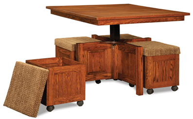 5 pc. Square Table Bench Set