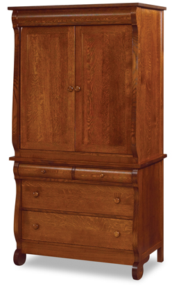 """Old Classic Sleigh 41"""" 4 Drawer 2 Door Armoire"""